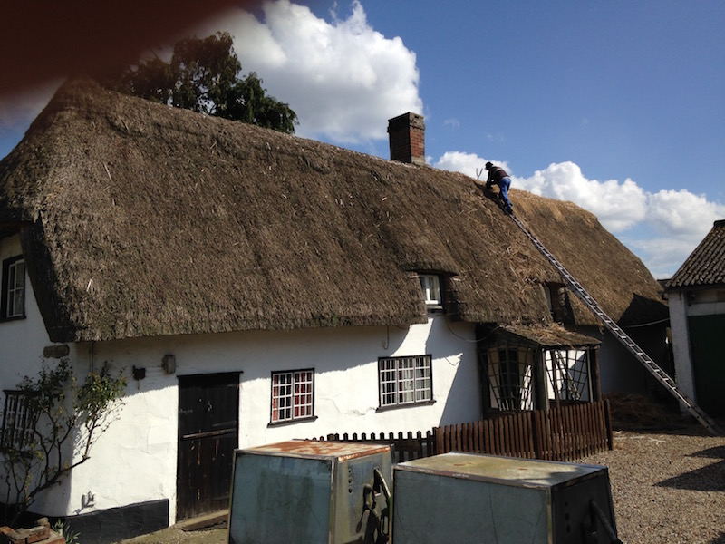star cottage being rethatched