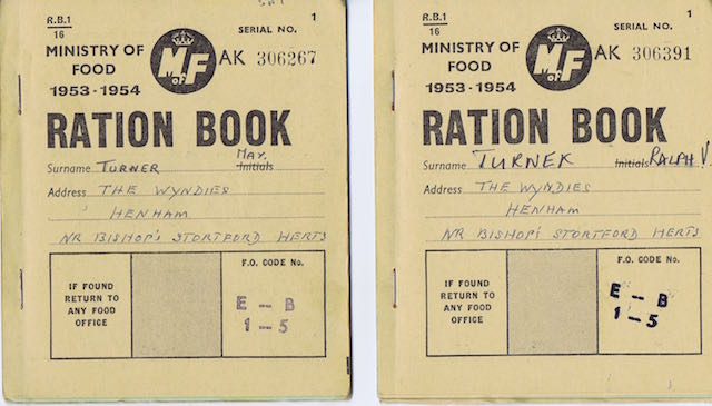 1953 2 rationing book