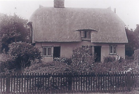 Bury Cottage in 1948 after re-thatching