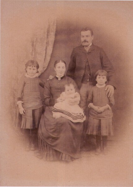 Alfred and Lydia White with their family