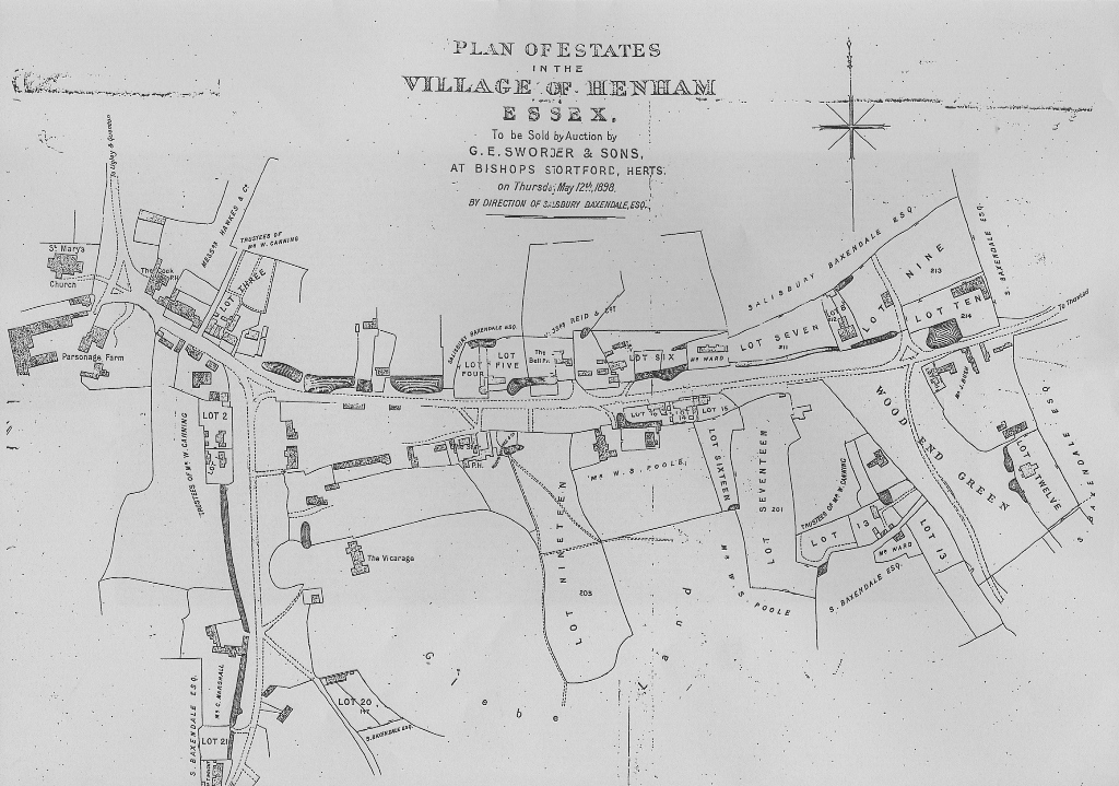 1898 henham auction map