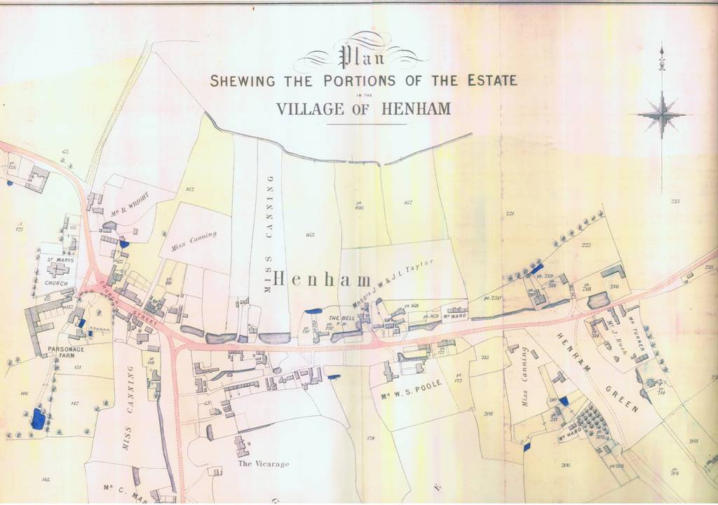 henham estate map 1896