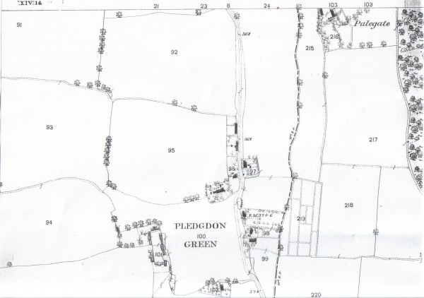 Pledgdon map top