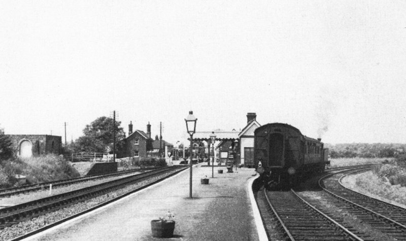 Train leaving the Thaxted Branch Line