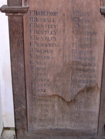 Wooden Roll of Honours part 1