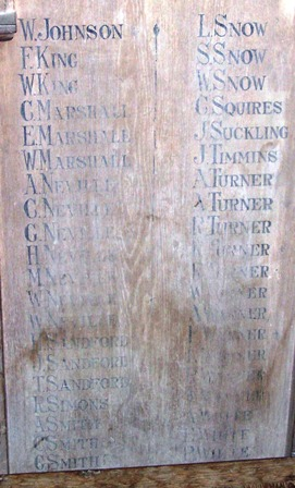 Wooden roll of Honour part 2