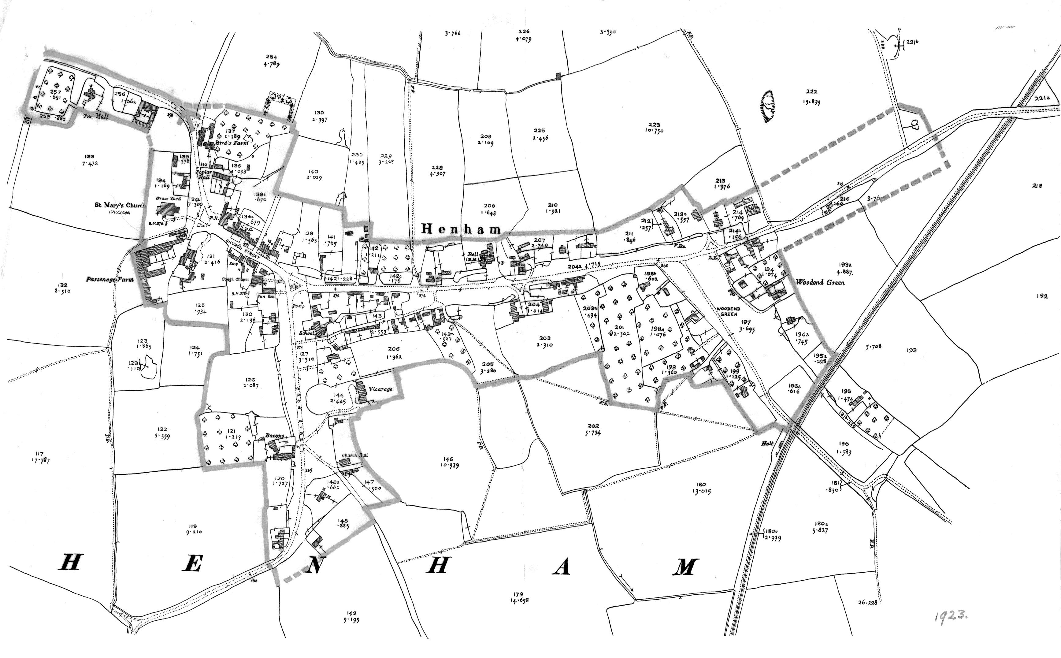 Henham History Maps 2 2004 Hyundai Sonata Engine Diagram 1923 Map